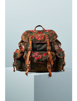 Campomaggi Embroidered Camo Backpack by Campomaggi