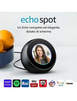 Amazon Echo Spot   Un Altoparlante Intelligente Dotato Di Schermo, Con Alexa   Nero by Amazon