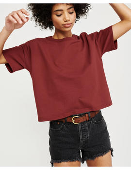 Boxy Crewneck Tee by Abercrombie & Fitch