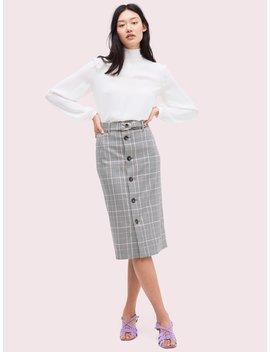 Menswear Pencil Skirt by Kate Spade