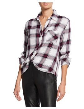 Hunter Button Front Plaid Top by Rails