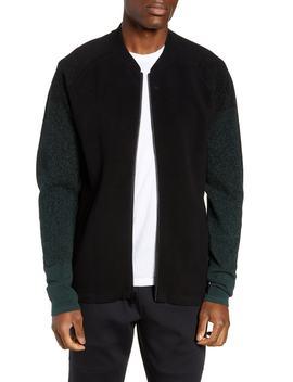 Sweater Fleece Bomber Jacket by Zella
