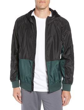 Colorblock Hooded Windbreaker Jacket by Zella