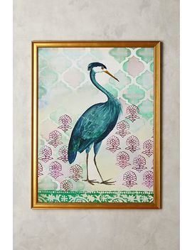 Blue Heron Wall Art by Artfully Walls