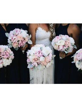 Peony Bouquet, Rose, Chrysanthemum & Dusty Miller Wedding Bouquet Silk Peonies by Etsy