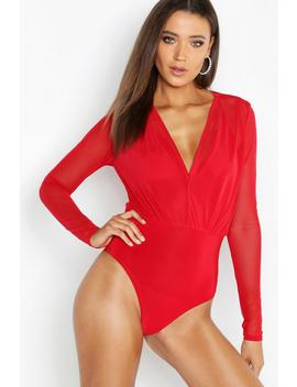 Tall Mesh 2 In 1 Bodysuit by Boohoo