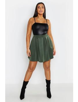 Plus Scuba Mini Skirt by Boohoo