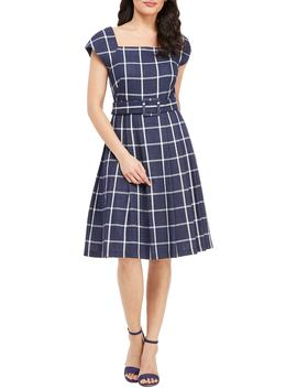 Karen Square Neck A Line Dress by Gal Meets Glam Collection