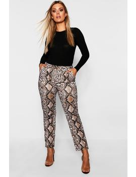 Plus Snakeskin Tailored Trouser by Boohoo