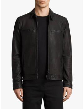 All Saints Lark Leather Jacket, Black by All Saints