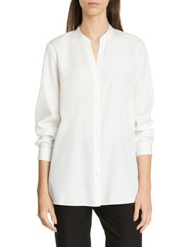 Mandarin Collar Shirt by Eileen Fisher