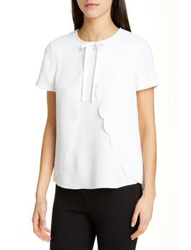Tianer Scalloped Overlay Blouse by Ted Baker London