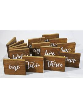 Wedding Table Numbers, Free Standing Table Names, Custom Made Wooden Signs,Wedding Table Names, Rustic Wood Signs, Wedding Table Decoration by Etsy
