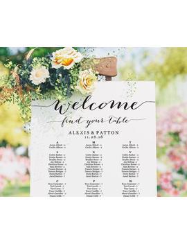 Seating Chart, Seating Chart Wedding, Alphabetical Seating Chart Template, Seating Chart Poster, Seating Chart Board, Wedding Seating Sign by Etsy