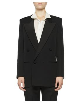 peak-lapel-tuxedo-blazer by saint-laurent