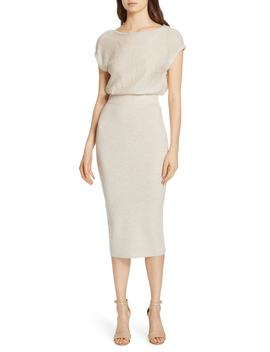 Shara Twist Back Blouson Dress by Alice + Olivia