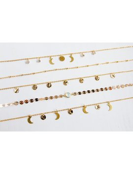 Golden Chokers, Dainty Necklaces, Moon Phases, Gold Coins, Opal Link And Gold Plated Brass Or Stainless Steel by Etsy