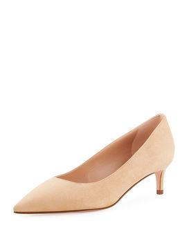 Leigh 45mm Suede Pumps by Stuart Weitzman