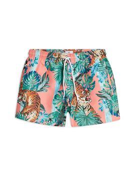 Tiger Print Swim Shorts by Topman
