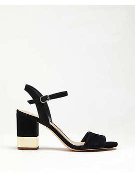 Joann Suede Heeled Sandals by Ann Taylor
