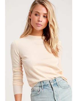 Jessa Cream Sweater Top by Lulus