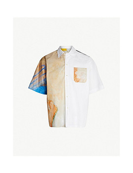 Betsy Podlach Print Regular Fit Cotton Twill Shirt by Marni
