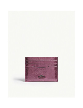 Metallic Leather Card Holder by Coach