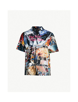 Graphic Print Relaxed Fit Cotton Shirt by Tigran Avetisyan