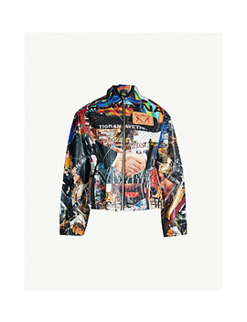 Graphic Print Cotton Jacket by Tigran Avetisyan