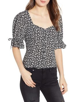 Floral Print Top by Row A
