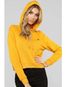 In Love With You Hoodie   Mustard by Fashion Nova