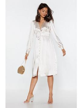 Just A Touch Of Your Love Satin Midi Dress by Nasty Gal