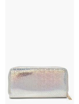 Holographic Ziparound Purse by Boohoo