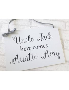 Here Comes The Bride Sign, Wedding Sign, Page Boy Sign, Flower Girl Sign, Here Comes The Love Of Your Life Sign, Wedding Plaques, Wedding by Etsy