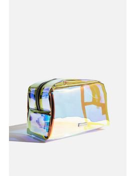 **Dazzle Oval Makeup Bag By Skinnydip by Topshop