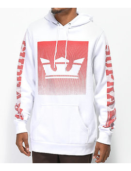 Supra Crown Fade White Hoodie by Supra