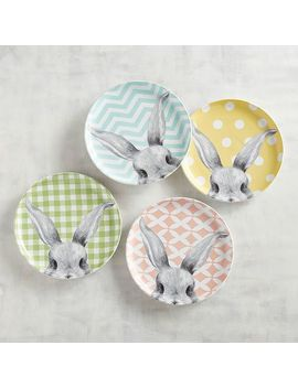 Easter Bunny Ears Salad Plate Set by Pier1 Imports