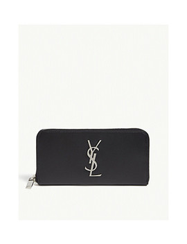 Monogram Leather Purse by Saint Laurent