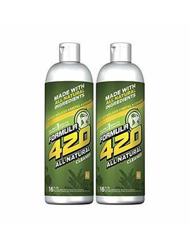 All Natural Formula 420 Pirex Glass Metal Ceramic Cleaner, 2 Bottles, 16 Ounces Each by Formula 420