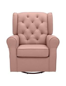 Delta Children Emma Nursery Glider Swivel Rocker Chair   Blush by Delta Children