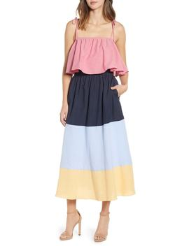 Colorblock Maxi Dress by English Factory