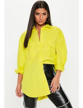 Neon Yellow Oversized Denim Shirt by Missguided