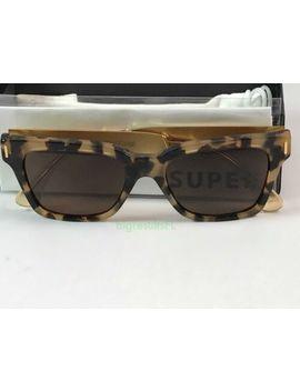 New Super Retrosuperfuture 775 America Francis Brown Puma Sunglasses Size 51mm by Retrosuperfuture