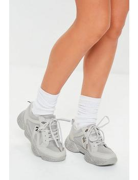 Grey Bubble Sole Hiking Detail Trainers by Missguided