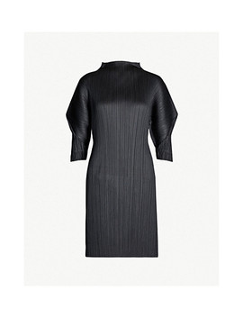 Puffed Sleeve Pleated Dress by Pleats Please Issey Miyake