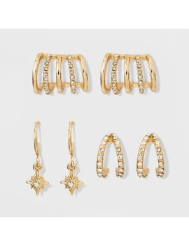 Sugarfix By Bauble Bar Trendy Earring Gift Set   Gold by Sugar Fix By Bauble Bar