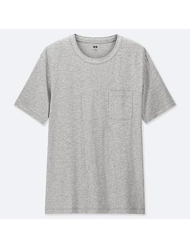 Men Slub Crew Neck Pocket T Shirt by Uniqlo
