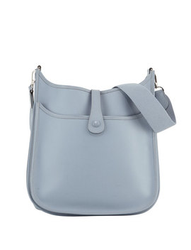 Evelyn Leather Crossbody Bag, Blue by Hermès