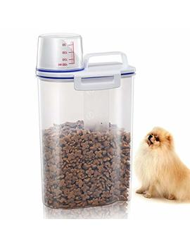 Tb Max Pet Food Container For Dogs Cat Food Container With Pour Spout + Seal Buckles + Bpa Free Plastic + Airtight For Birds by Tb Max