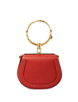 Nile Small Bracelet Crossbody Bag, Red by Chloe